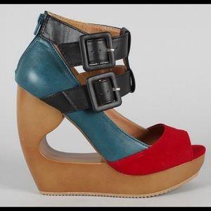 QUPID Colorblock Sandal